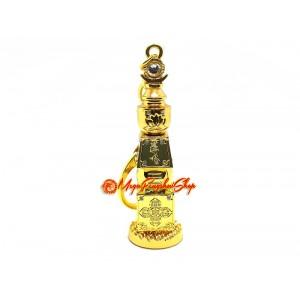 5 Element Pagoda Feng Shui Keychain