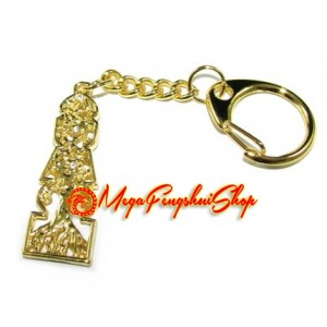 5 Element Pagoda with Tree of Life Keychain