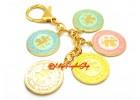 Five Elements Mirror Amulet Keychain (Pastel)