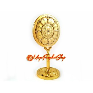 8 Hum Protection Wheel Feng Shui Mirror