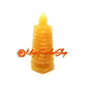 9 Level Feng Shui Pagoda - Yellow Jasper