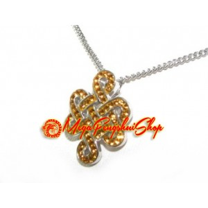 925 Silver Mystic Knot Pendant with Yellow Swarovski Crystals