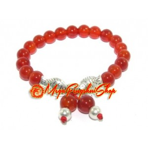A Pair of Carps Red Agate Crystal Bracelet