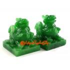 A Pair of Feng Shui Pi Yao (Green)