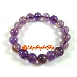 Ametrine Crystal Elastic Bracelet