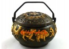 Antiquated Brass Trinket Box with 12 Chinese Zodiac Animals