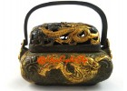 Antiquated Brass Trinket Box with Dragons