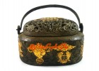 Antiquated Brass Trinket Box with Eight Magical Objects