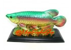 Feng Shui Arowana on Bed of Coins (L)
