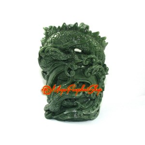 Auspicious Jadeite Dragon Pen Holder