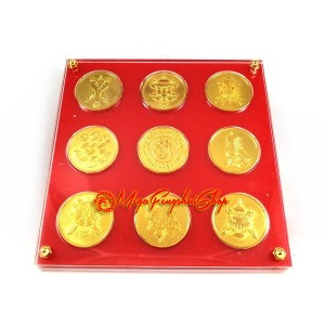 Auspicious Nine Amulet Plaque