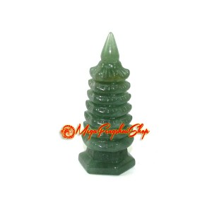 Aventurine Feng Shui Pagoda for Education Luck