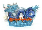 Bejeweled Blue Feng Shui Dragon