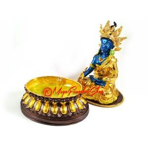 Bejeweled Blue Medicine Buddha Statue