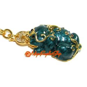 Bejeweled Pi Yao Feng Shui Keychain
