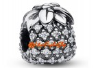 Bejeweled Pineapple Bead Charm (925 Silver)