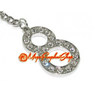 Bejeweled Power of 8 Lucky Keychain