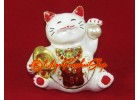Bejeweled Wealth Beckoning Fortune Cat