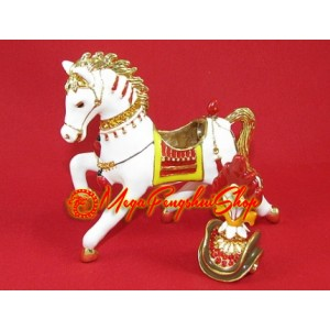 Bejeweled Wind Horse Carrying Flaming Jewel
