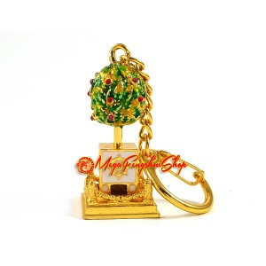 Bejeweled Wish-Granting Tree Feng Shui Keychain