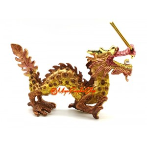 Bejeweled Wish-Granting Dragon for Success