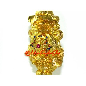 Bejewelled Golden Eight Buddhist Magical Objects