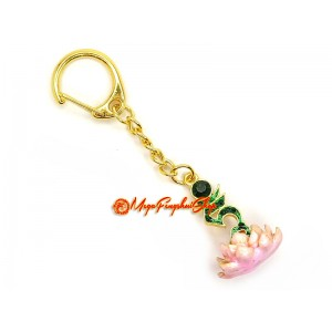 Bejewelled Tam Lotus Keychain