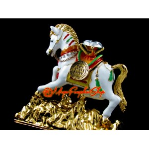 Bejewelled Wish Fulfilling Feng Shui Wind Horse