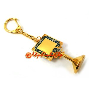 Big and Small Auspicious Mirror Feng Shui Keychain