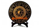 Black Obsidian Disc with Bagua and 12 Chinese Zodiac Animals