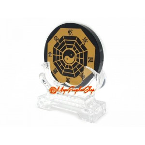 Black Obsidian Feng Shui Bagua with Trigrams