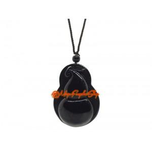 Black Obsidian Feng Shui Wu Lou Pendant