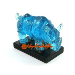 Blue Feng Shui Rhinoceros
