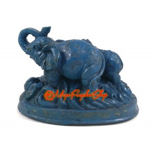 Blue Rhinocerous and Elephant on Water