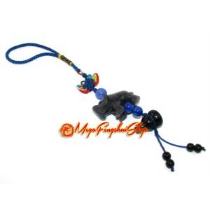 Blue Sodalite Rhinoceros Amulet