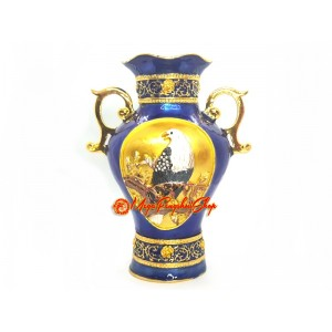 Blue Treasure Feng Shui Vase with Eagle