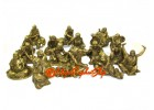 Brass 18 Arhats Luo Han