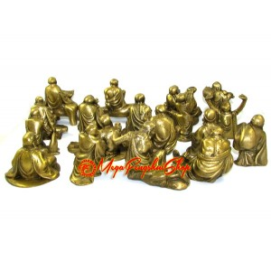 Brass 18 Arhats Luo Han
