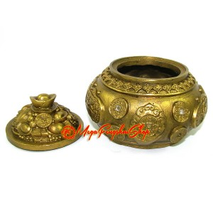 Brass Feng Shui Wealth Pot (s)