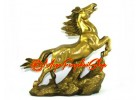 Brass Galloping Feng Shui Horse for Success