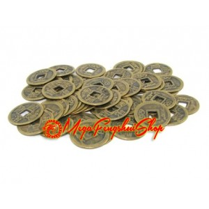 Brass I-Ching Coins (50 pieces)