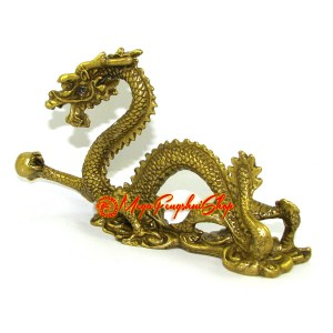 Brass Imperial Dragon for Success Luck