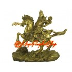 Brass Kwan Kong Charging on Horse (L)