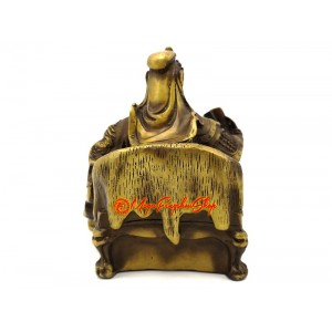 Brass Kwan Kong Statue Reading Book (s)