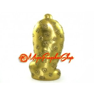 Brass Laughing Buddha in Good Fortune Robe