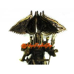 Brass Majestic Five Flags Kwan Kung Statue (XL)