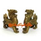 Brass Mini Pair of Feng Shui Piyao