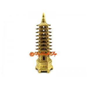 Brass Nine Storey Feng Shui Pagoda