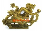 Brass Pair of Celestial Feng Shui Dragon and Phoenix