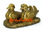 Brass Pair of Mandarin Ducks for Love